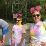 Still smiling! Color Run in Rockport ME 2017