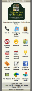 A screenshot of our office mobile website.
