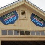 wood building at the Maine Boats, Homes and Harbor show