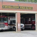 Brick building home to the Thomaston Fire Department.