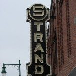 The Strand Movie theatre on Main Street in Rockland, Maine