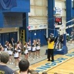 Our Panther Mascot gets the crowd going