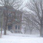 Rockland Maine Library. Nemo Blizzard.