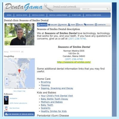 Seasons of Smiles Dental signs up with Dentagama.com