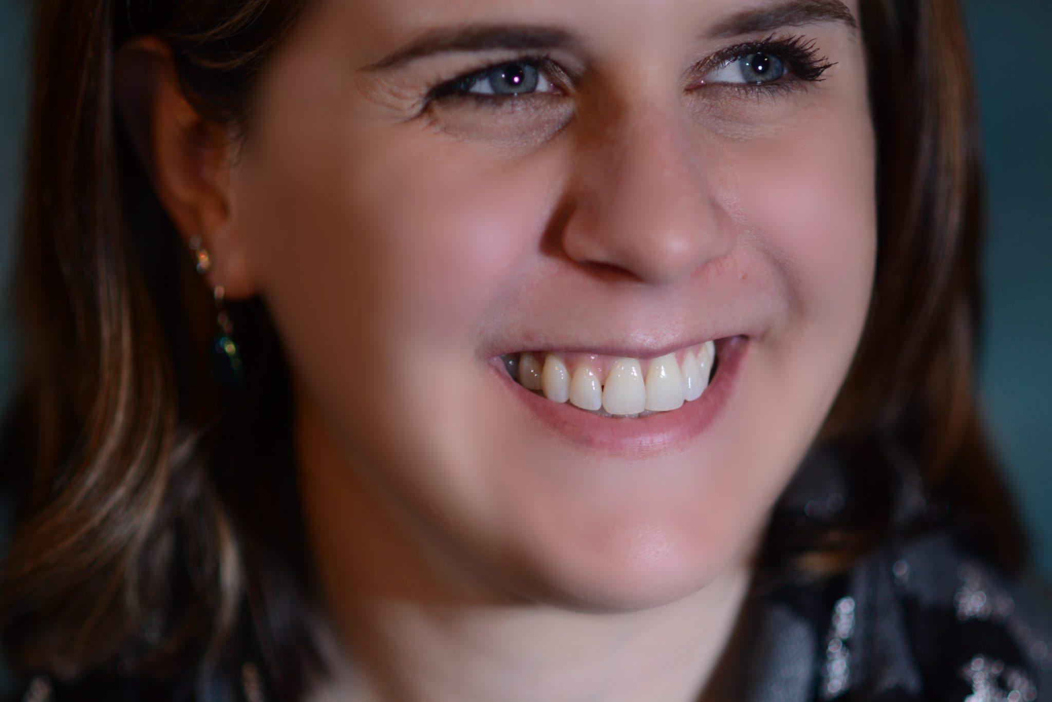 Amy Martin smiles at Seasons of Smiles Dental