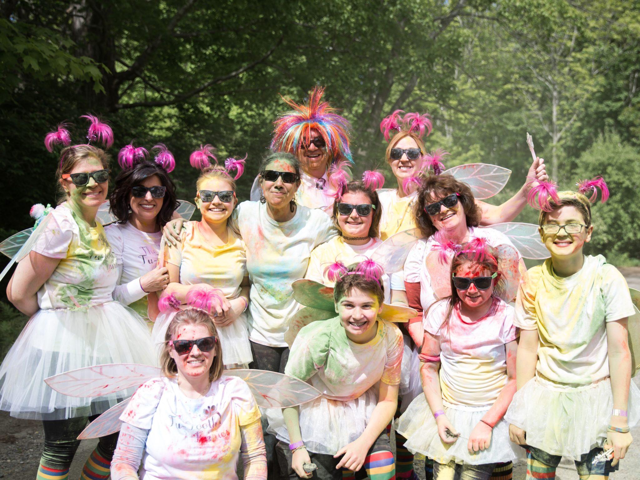 5K Color run in Camden, Rockport Maine.