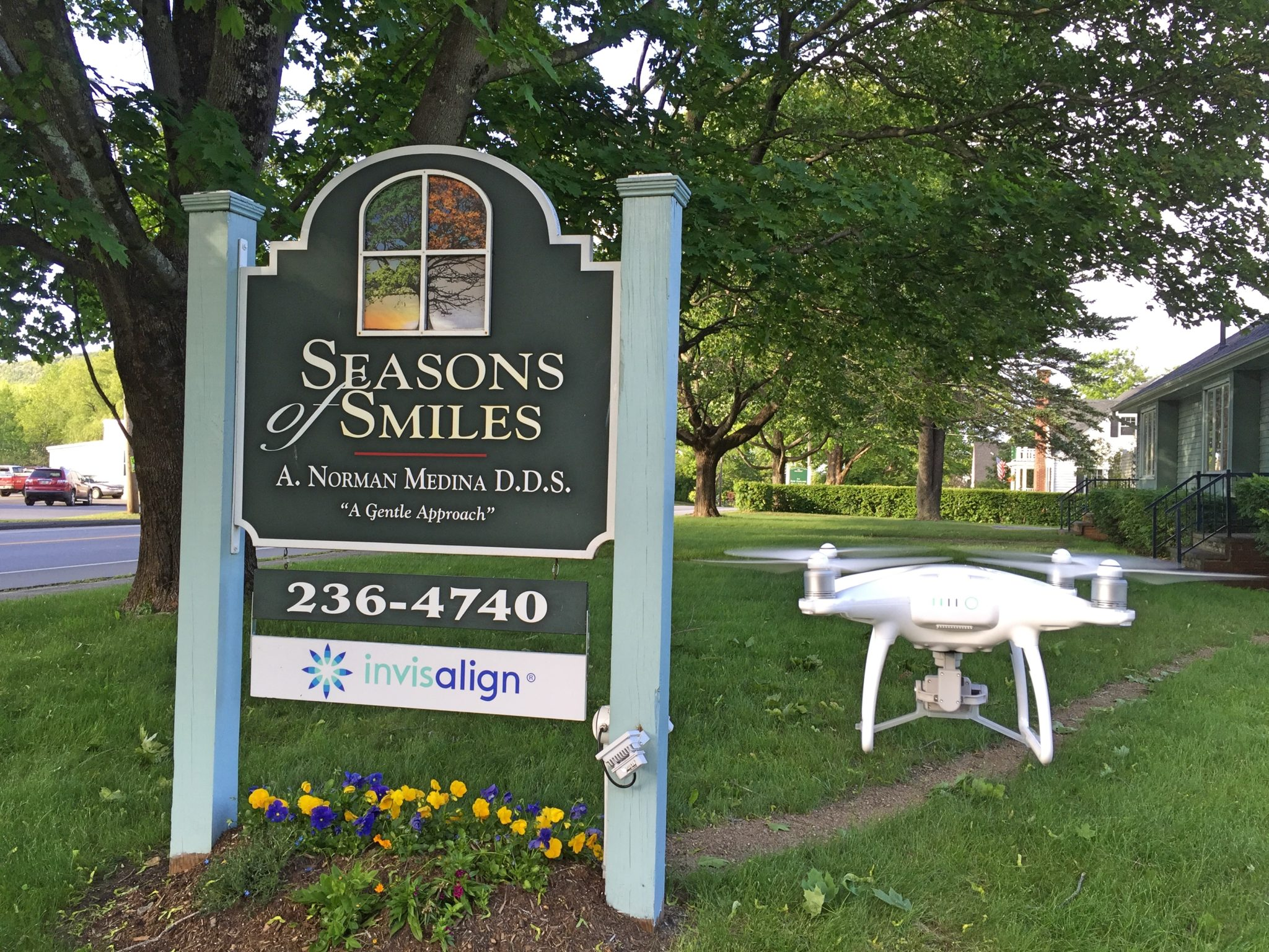 A DJI Phantom 4 Drone at the Dental Office.