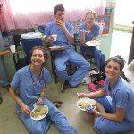 Lunch break while on Maranatha Mission Trip.