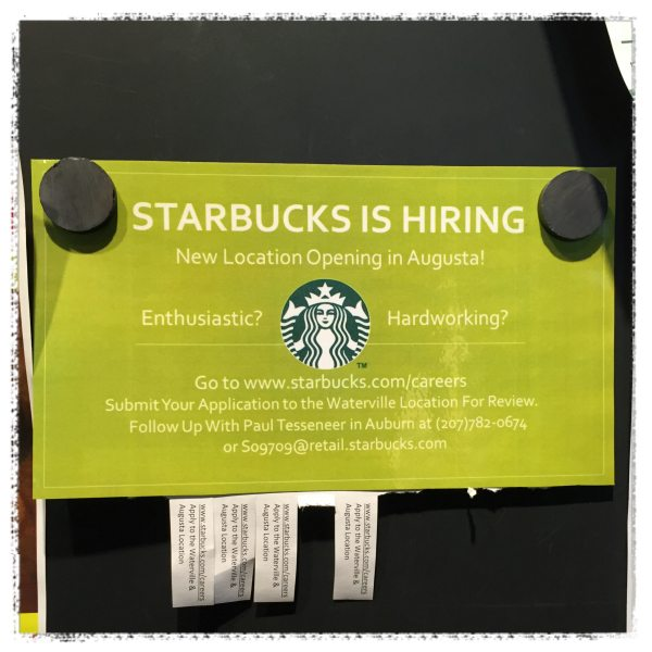 Starbucks is Hiring